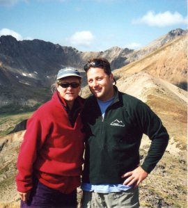 13,000', Ouray Peak, CO. August 2000
