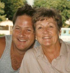 Me & Mom. Smiling.