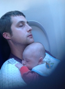 Chris and Levi - in flight.