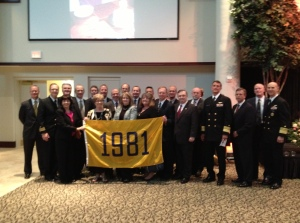 USNA Class of 1981 at Celebration of Life for Marty Bodrog.