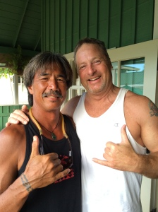 With Kurt Leong in Princeville, Kauai - Surf Dude all grown up.