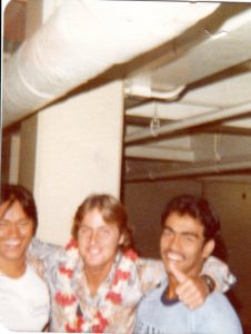 June 1977 -  Ben Aina and Joey DeSa  send me off to Annapolis
