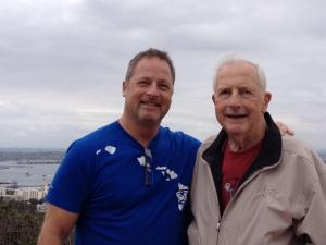 With Dad at Pt Lomas Naval Station